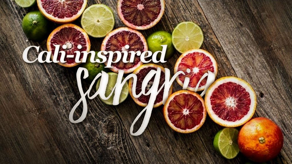 California Pizza Kitchen promotional video with citrus cut open for their sangria