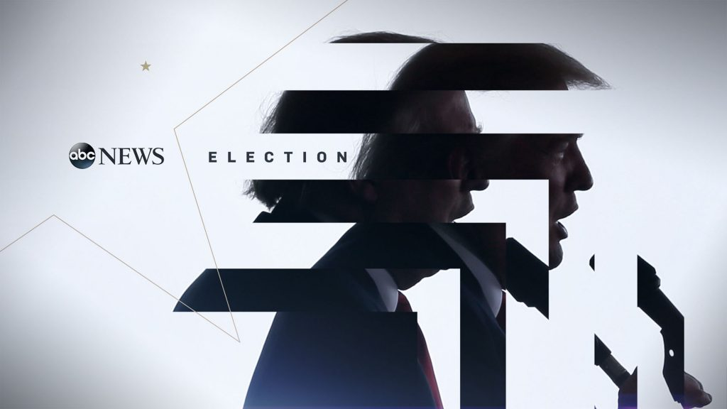 ABC News Election Campaign design with a profile image of trump