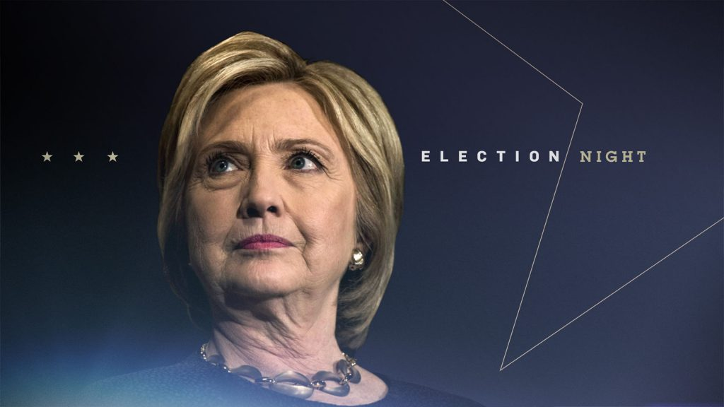 ABC News Election Campaign design with Clinton and a large graphic gold star