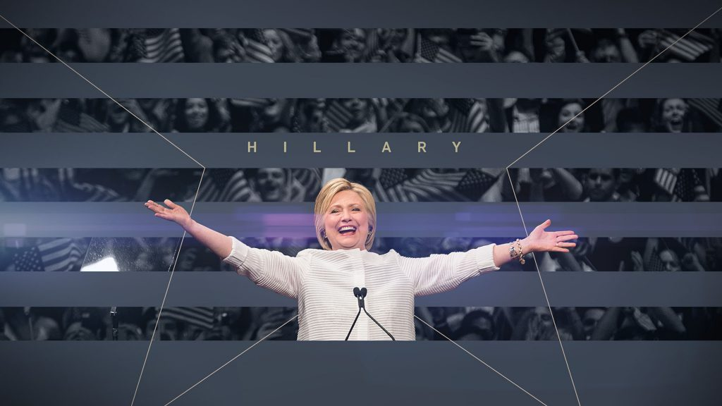 ABC News Election Campaign design with Hillary Clinton at a rally