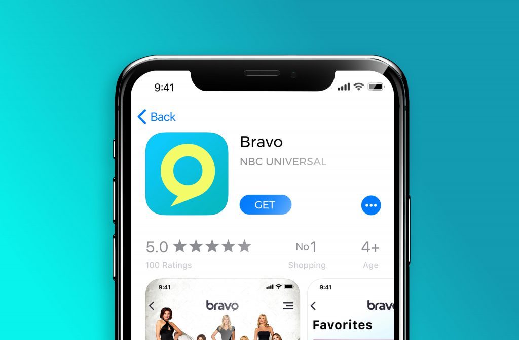 bravo app download screen design in the apple store