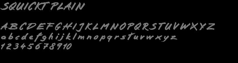 Squict Plain font