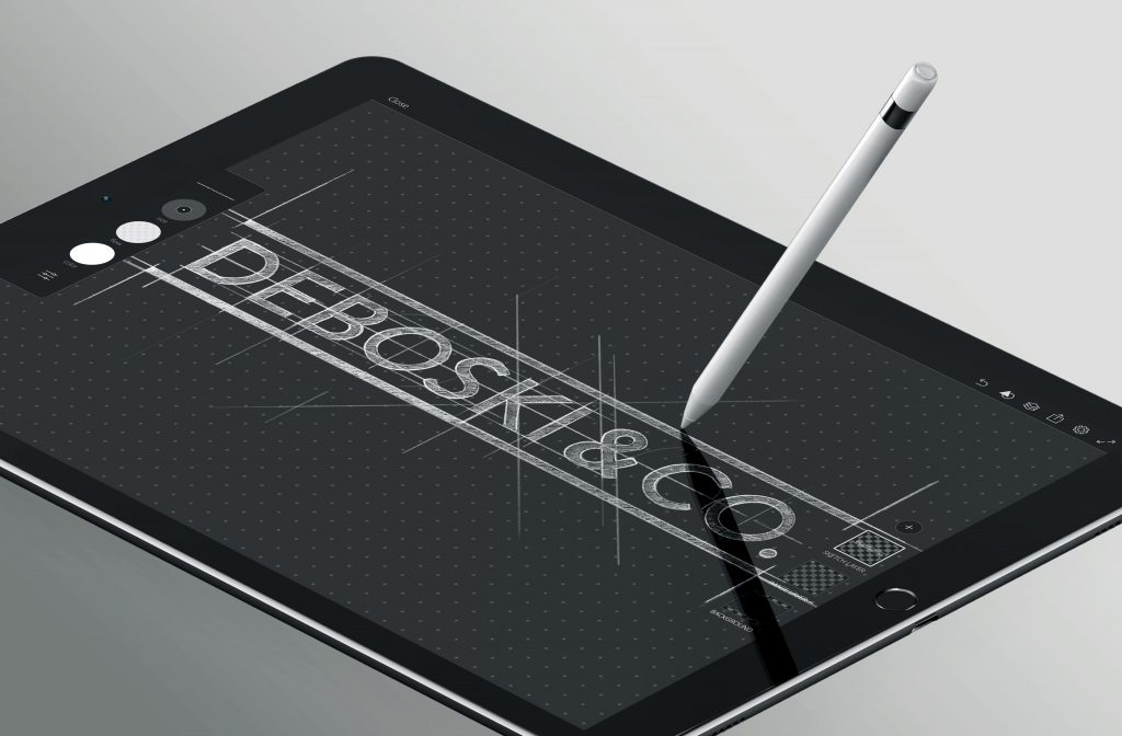 Deboski Logo design small business logo design in a ipad
