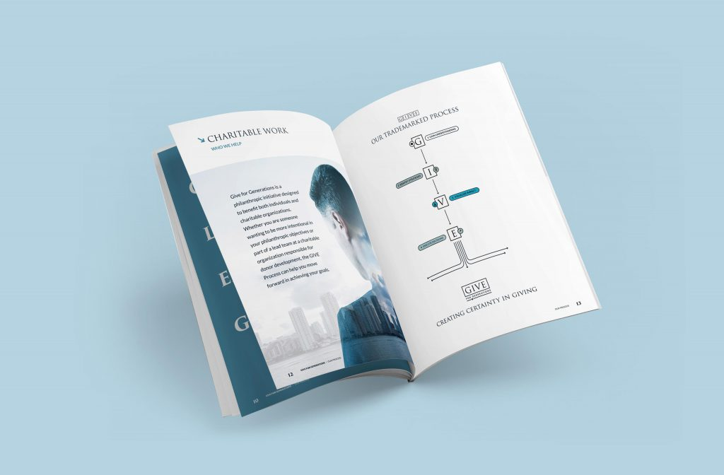 Marketing kit book design for a small business