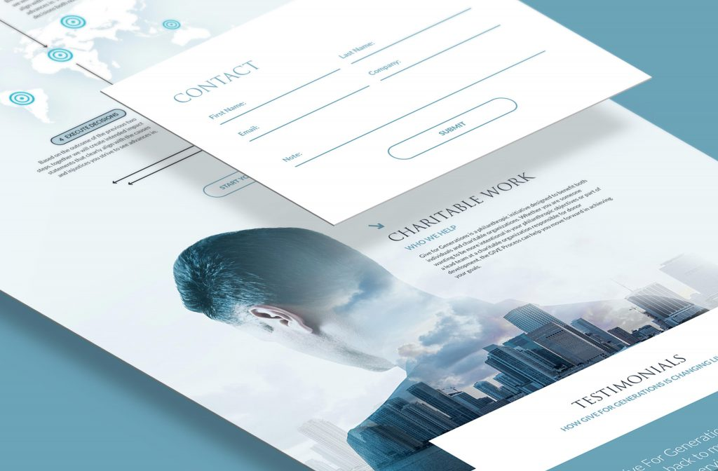Small business website design with call to action and custom forms
