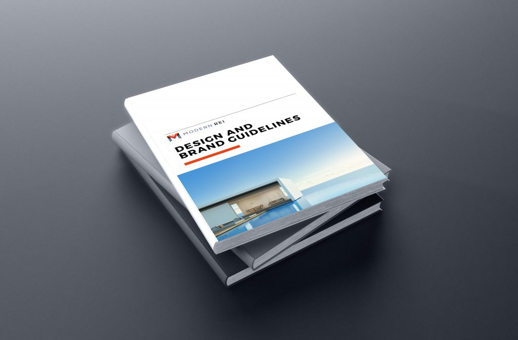 Real estate style guide design and marketing kit design