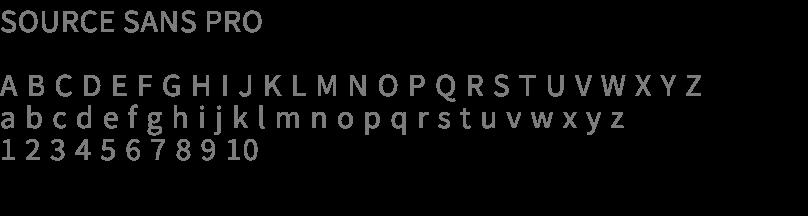 Source Sans Pro typeface style guide