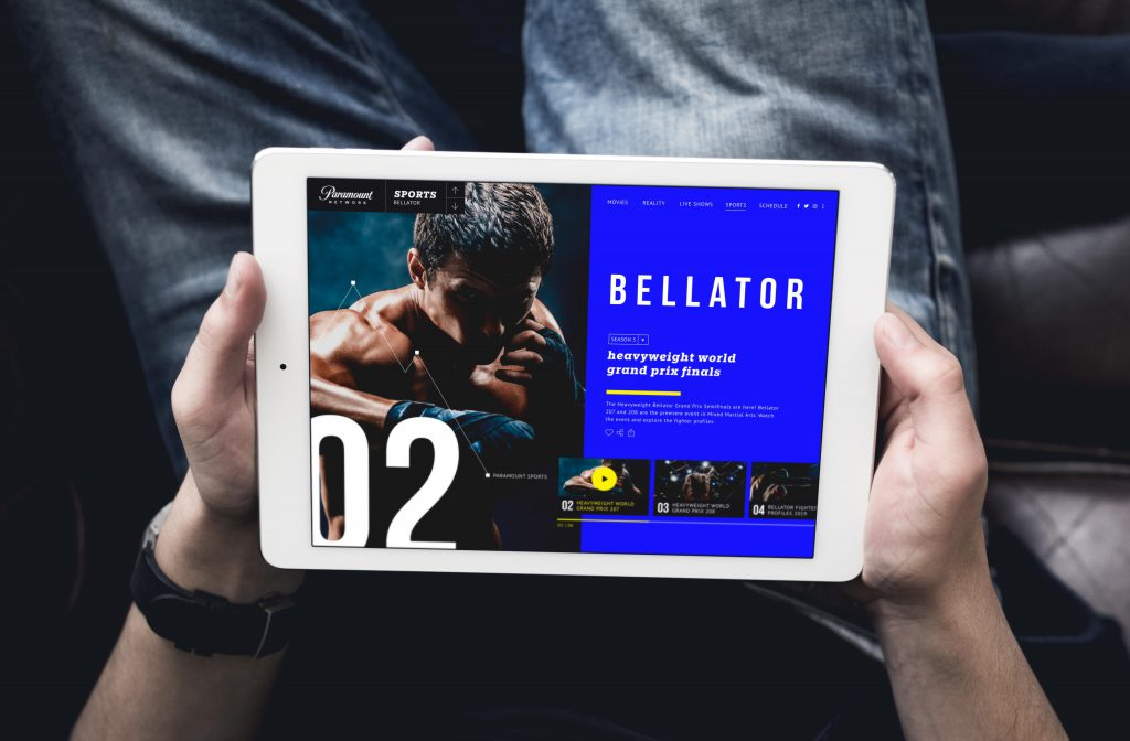 Paramount Bellator design for a video app