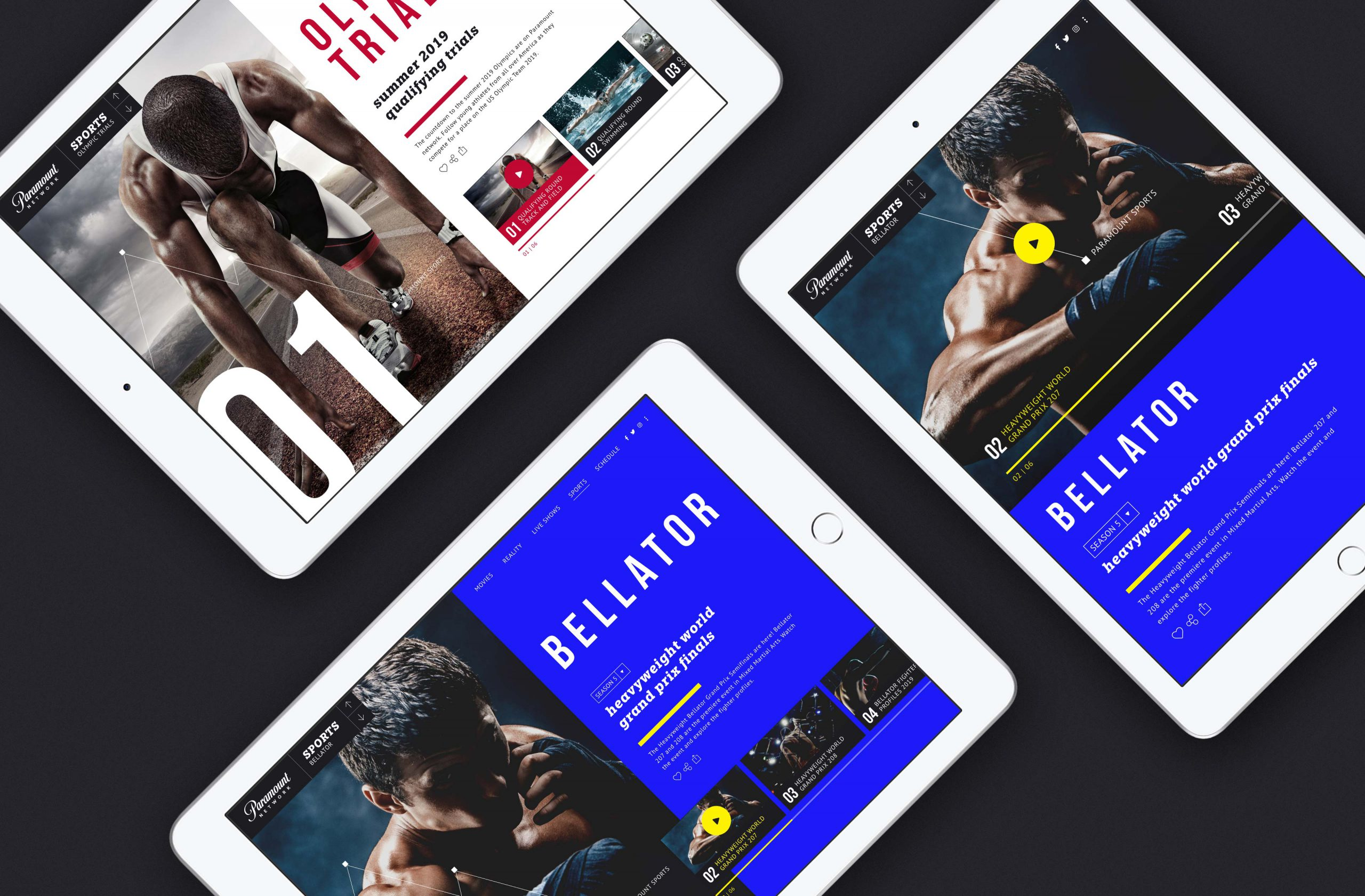 Paramount video app design