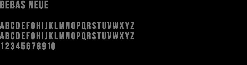 Bebas Font brand guide design