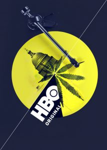 HBO Real Time with Bill Maher imagery of marijuana and the capital building on a record