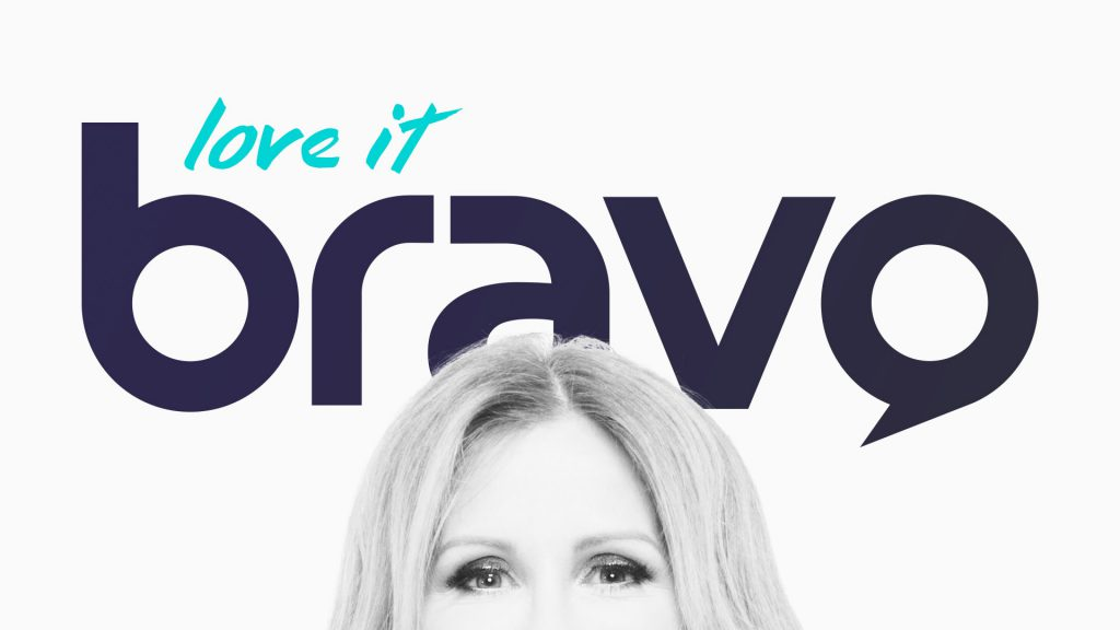 Bravo logo design and tagline lockup motion graphic frame design