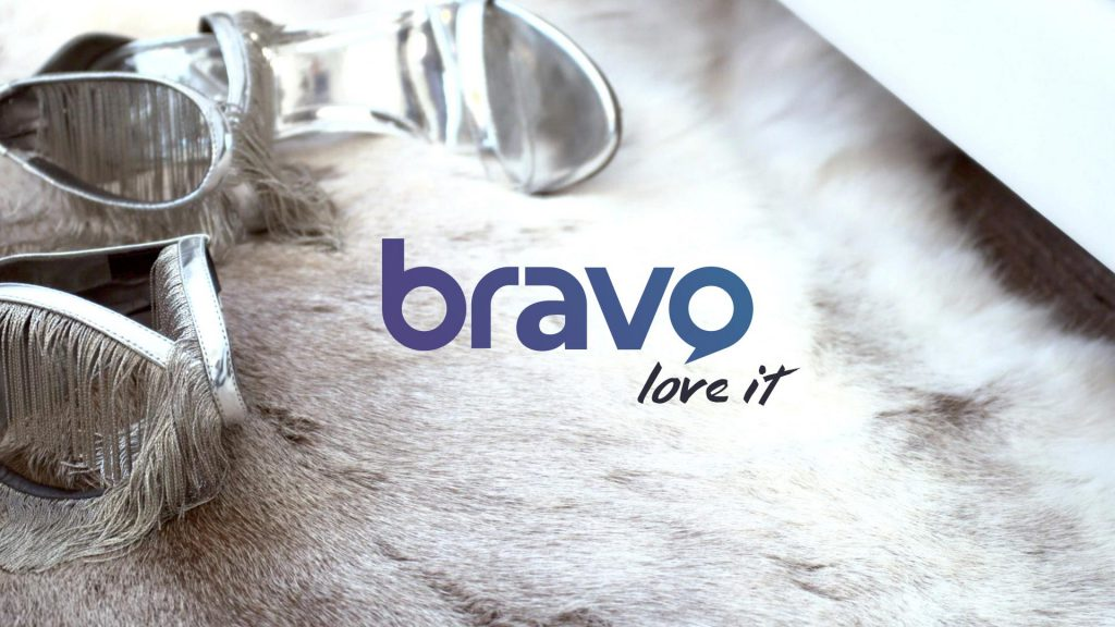 Bravo logo design in a tv frame design