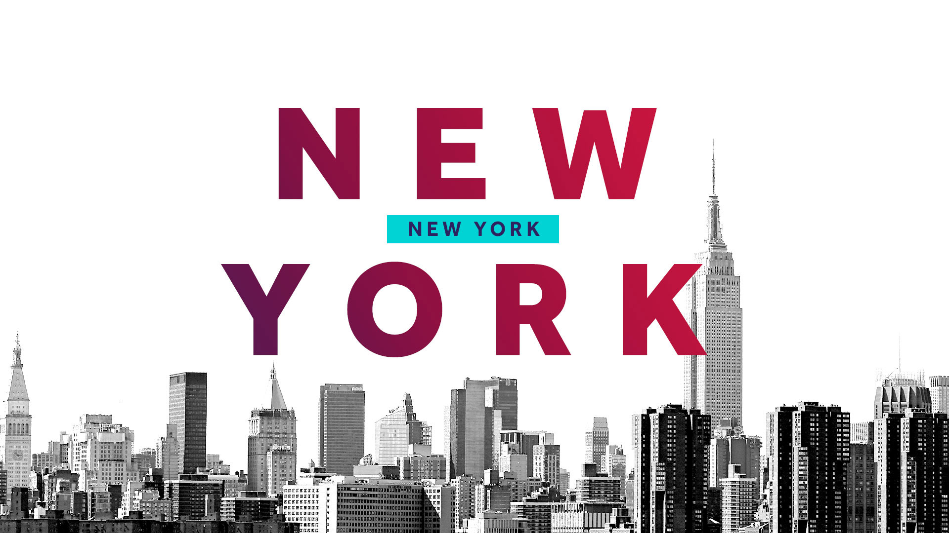 New York typography design for a motion graphics toolkit