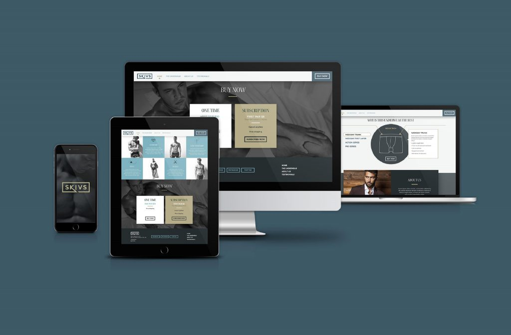Responsive fashion website design