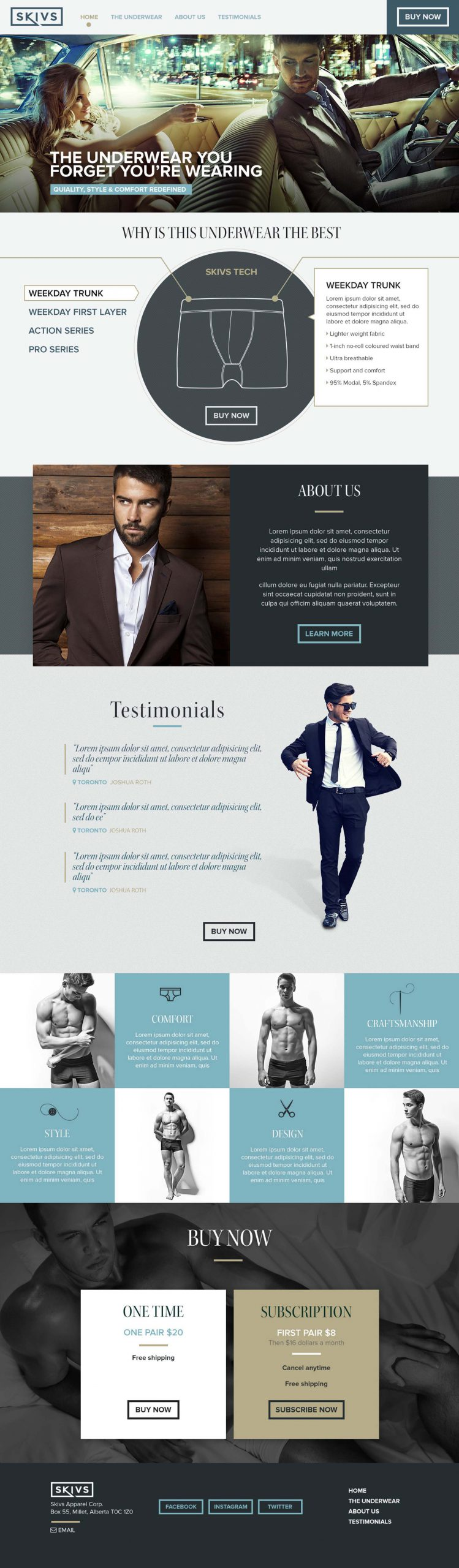 SKIVS fashion website design