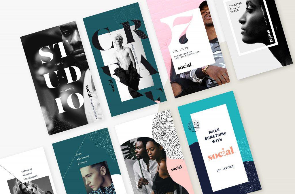 Instagram fashion social media design