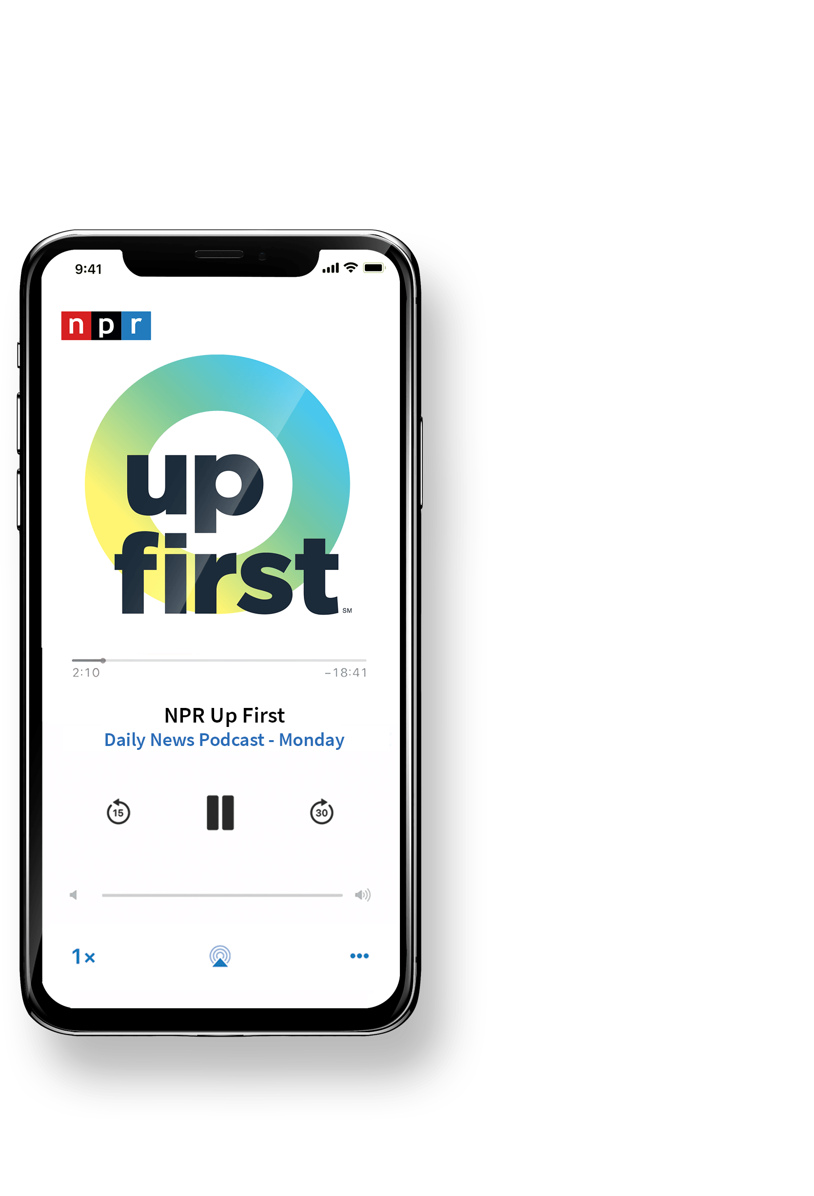 NPR Up First News Podcast Brand Design