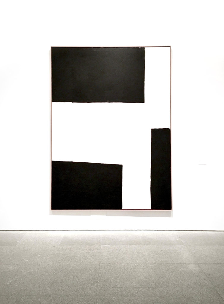 Miguel Ángel Campano minimalist black and white painting and design