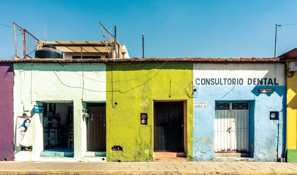 Photography of colorful buildings in Oaxaca Mexico