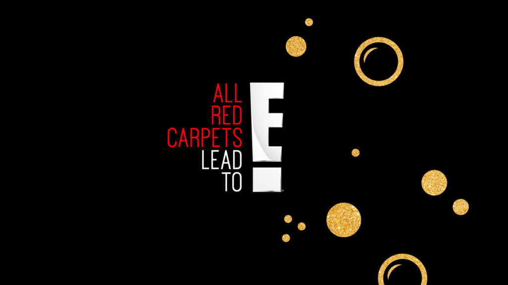 E! live from the red carpet with golden bubbles