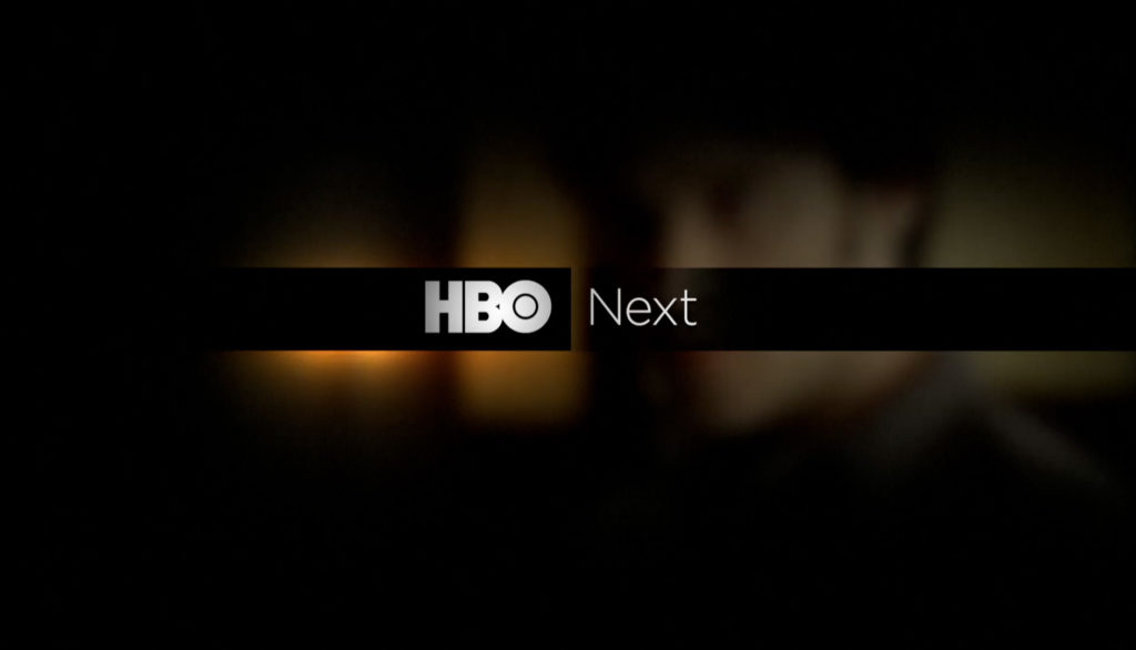HBO rebrand next title card design with light halo