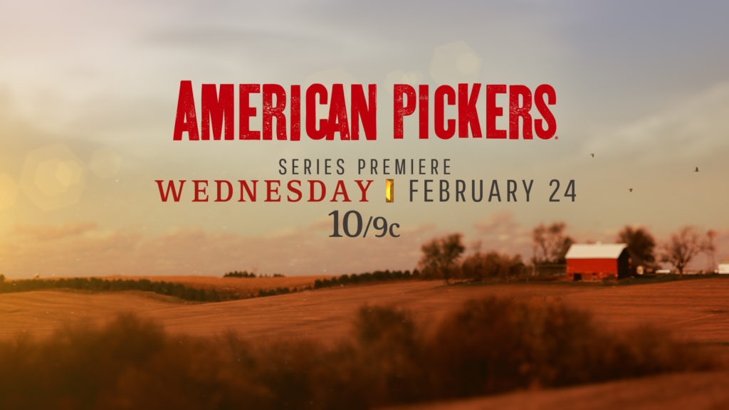 History Channel Branding American Pickers background of an American farm