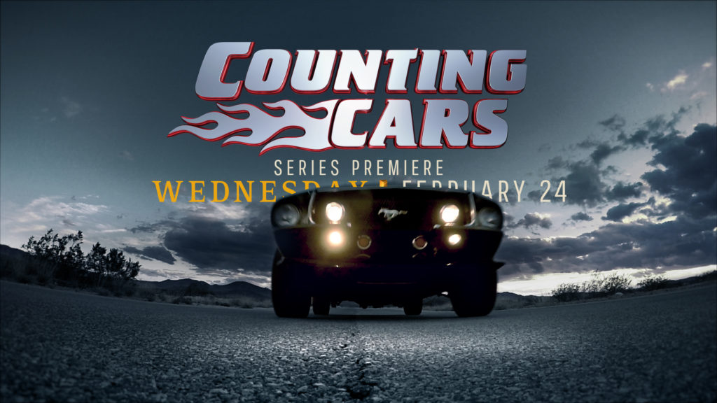 History Channel Branding for the History Counting Cars program with a road background