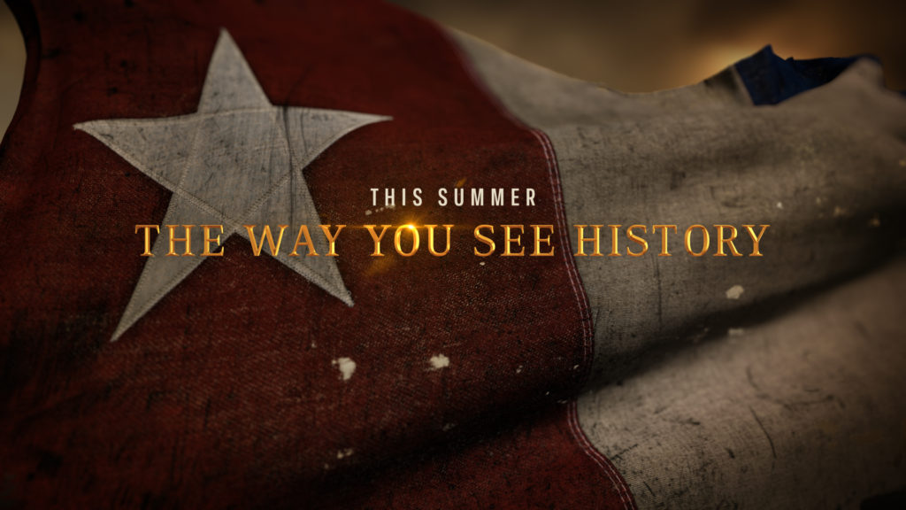 History Channel branding with the American Flag