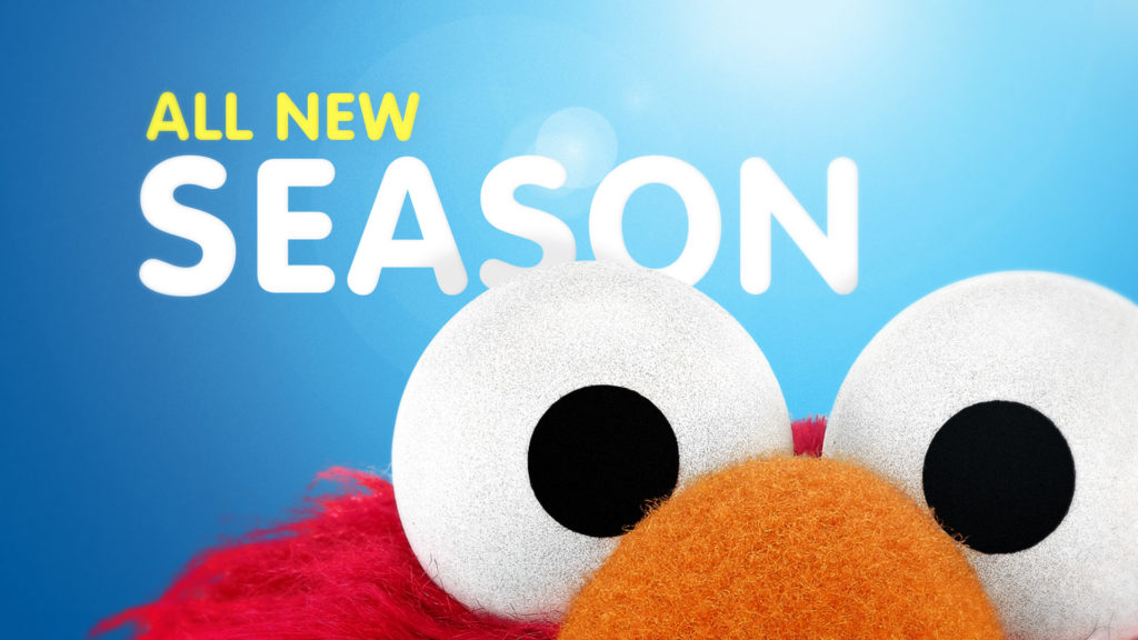 Sesame Street broadcast design toolkit with Elmo and All New Season
