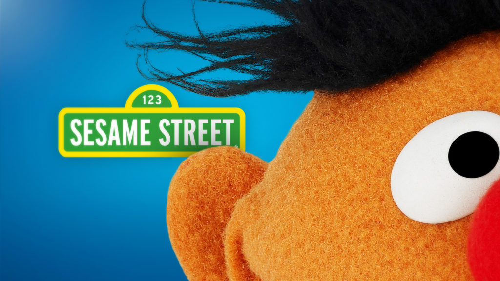 Sesame Street promo toolkit design with Ernie