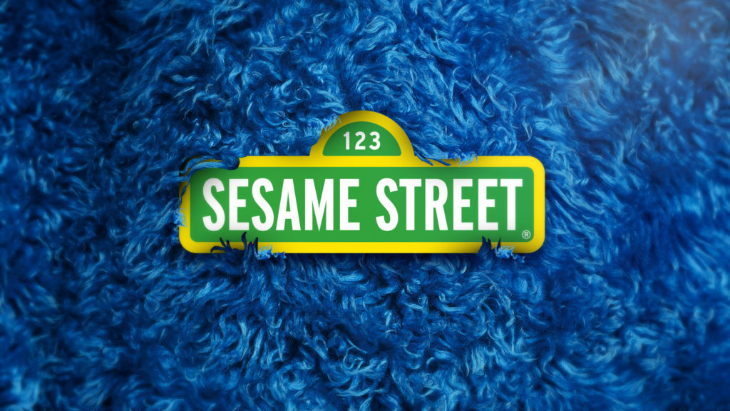 Sesame Street promo toolkit design with the Sesame Street Logo in the fur of Cookie Monster