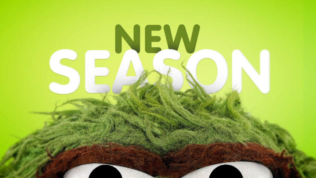 Broadcast branding Sesame Street toolkit design with Oscar the Grouch and New Season