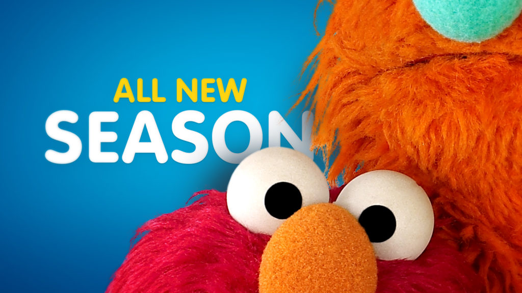 Broadcast branding Sesame Street toolkit design with Elmo and New Season