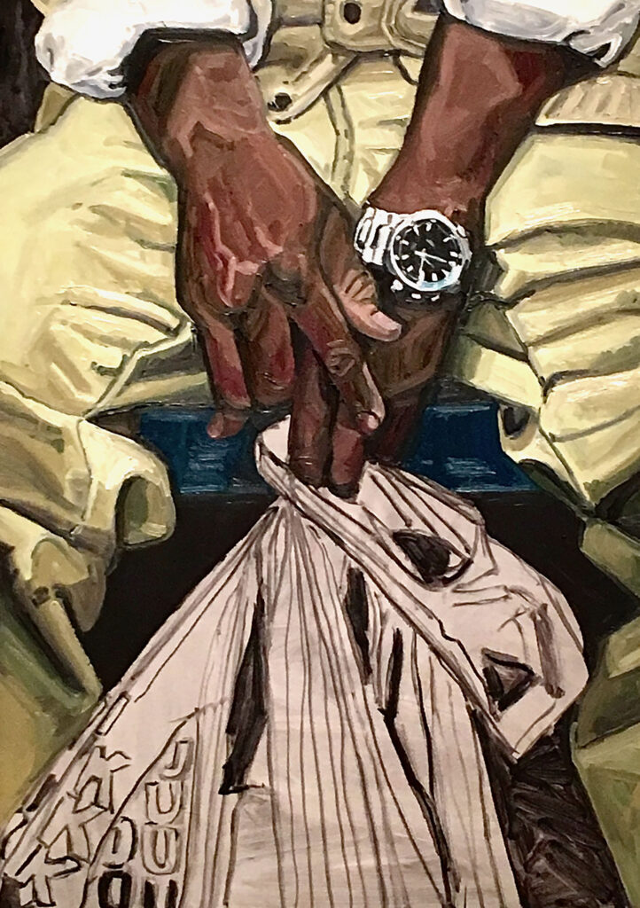 Jordan Casteel painting titles Subway Hands