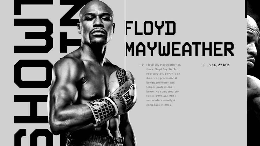 Showtime Boxing design concept for Floyd Mayweather vs Logan Paul