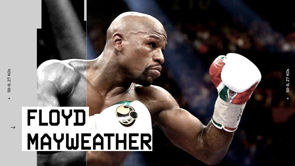 showtime boxing lower third design for Floyd Mayweather vs Logan Paul