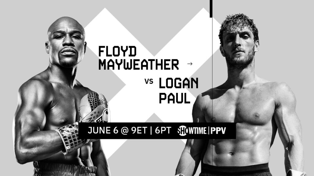 Showtime Boxing Floyd Mayweather vs Logan Paul matchup end page