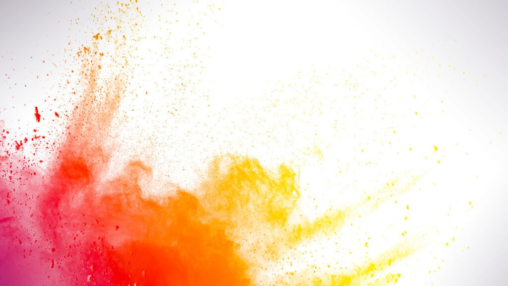 NBC Universal Syndication Studios logo animation design with colorful particles and dust
