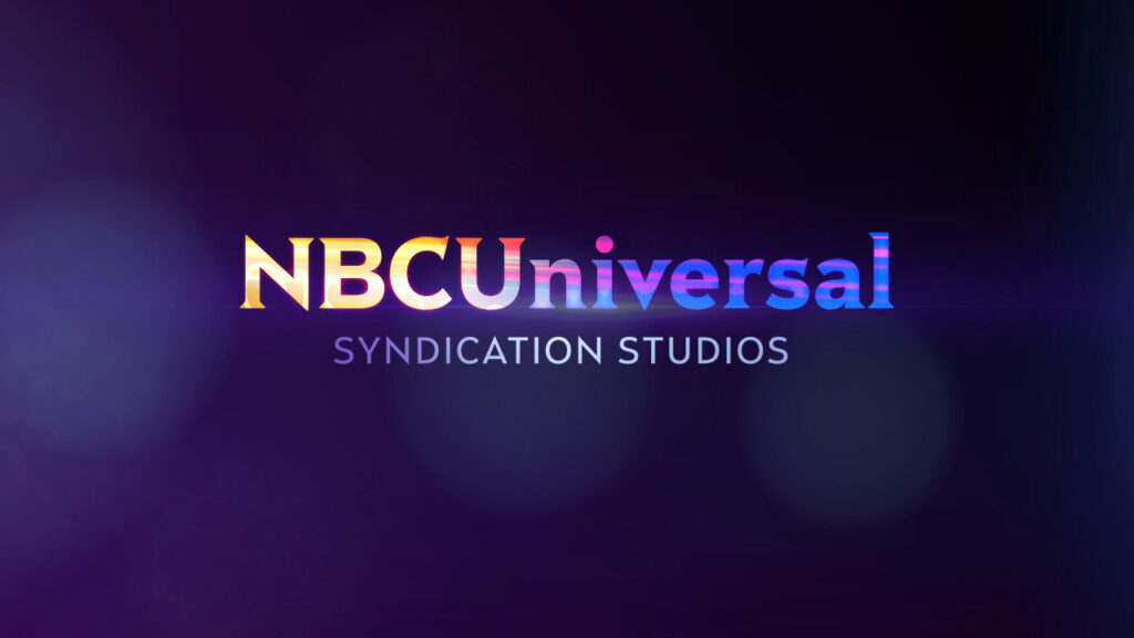 NBC Universal Syndication Studios logo animation design colorful light streams