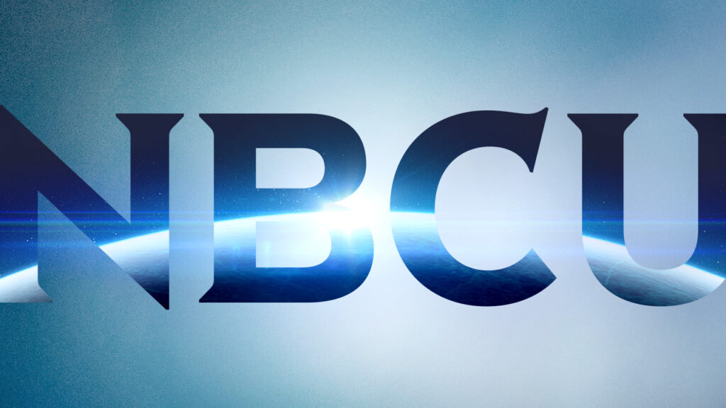 NBC Universal Syndication Studios logo animation design with globe inside the letters