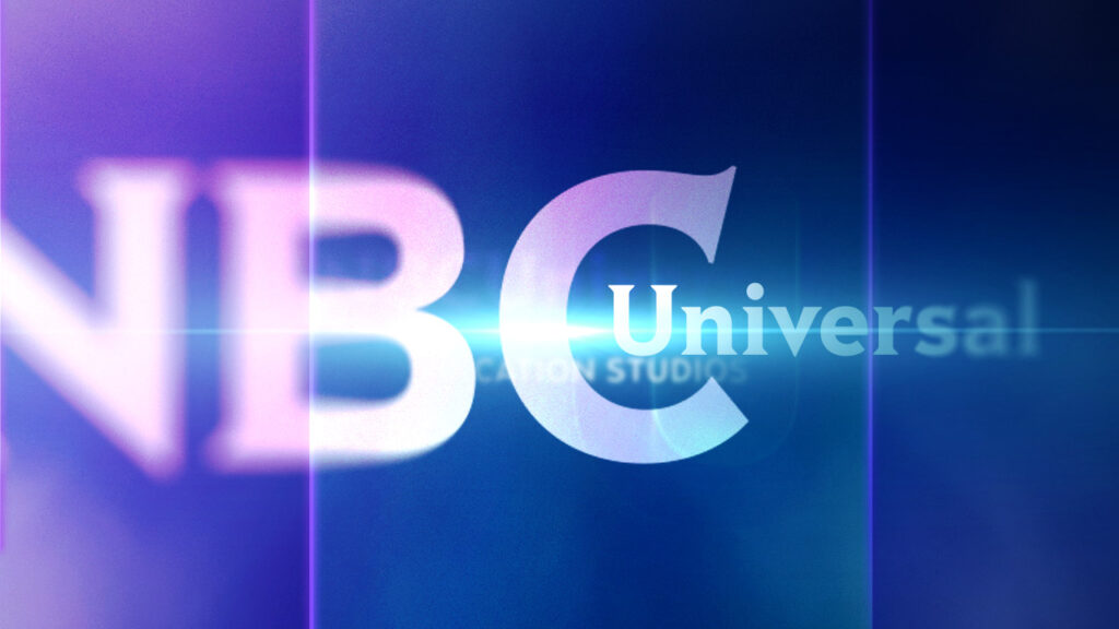 NBC Universal Syndication Studios logo animation design with refracted letters
