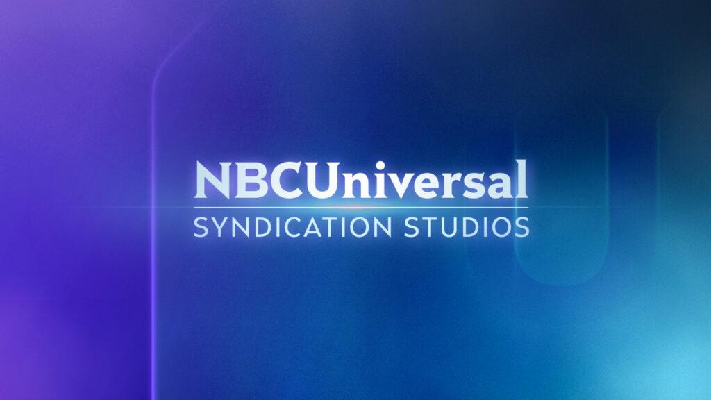 NBC Universal Syndication Studios logo animation design on a blue background
