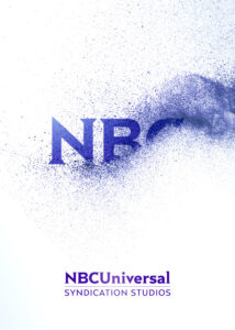 NBC Universal Syndication Studios logo animation design made of small particles