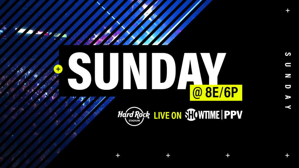 Showtime Boxing Sunday design