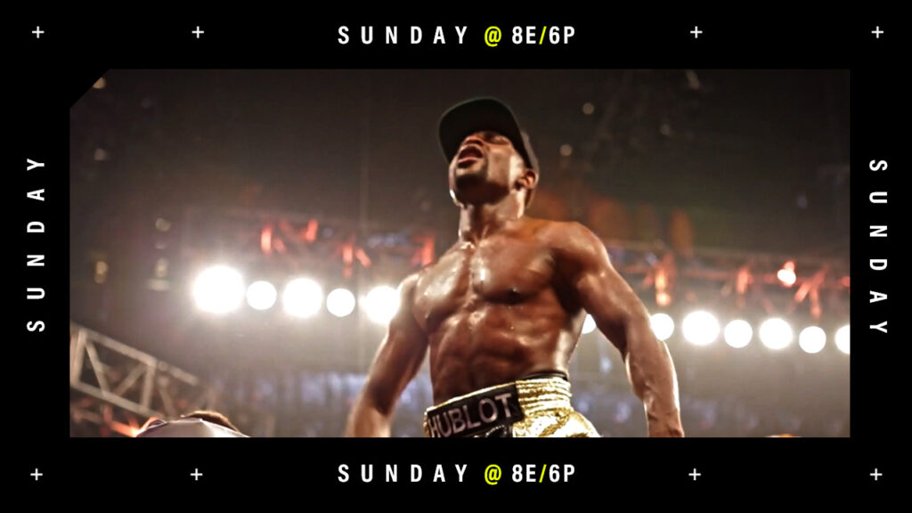 Showtime boxing tune in frame for youtube spot