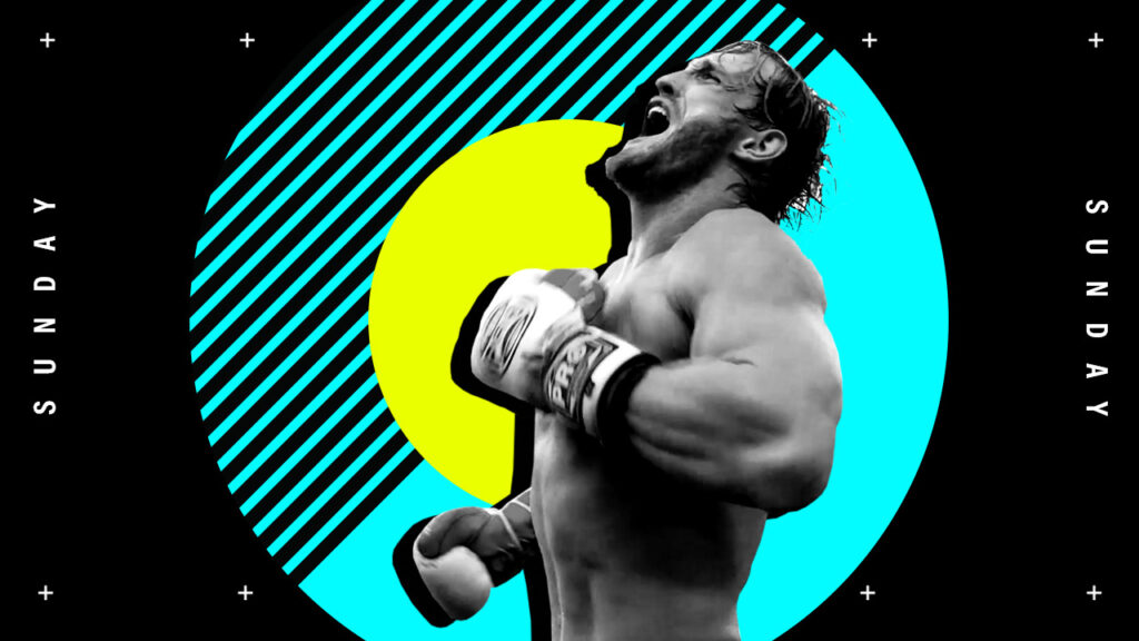 Showtime Boxing youtube tease design for Floyd Mayweather vs Logan Paul